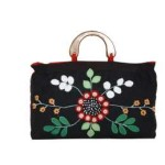 Tas-Maika-Etnik-Flower Buttercup Black