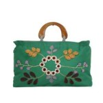 Tas-Maika-Etnik-Flower Buttercup Green