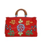 Tas-Maika-Etnik-Flower Buttercup Red