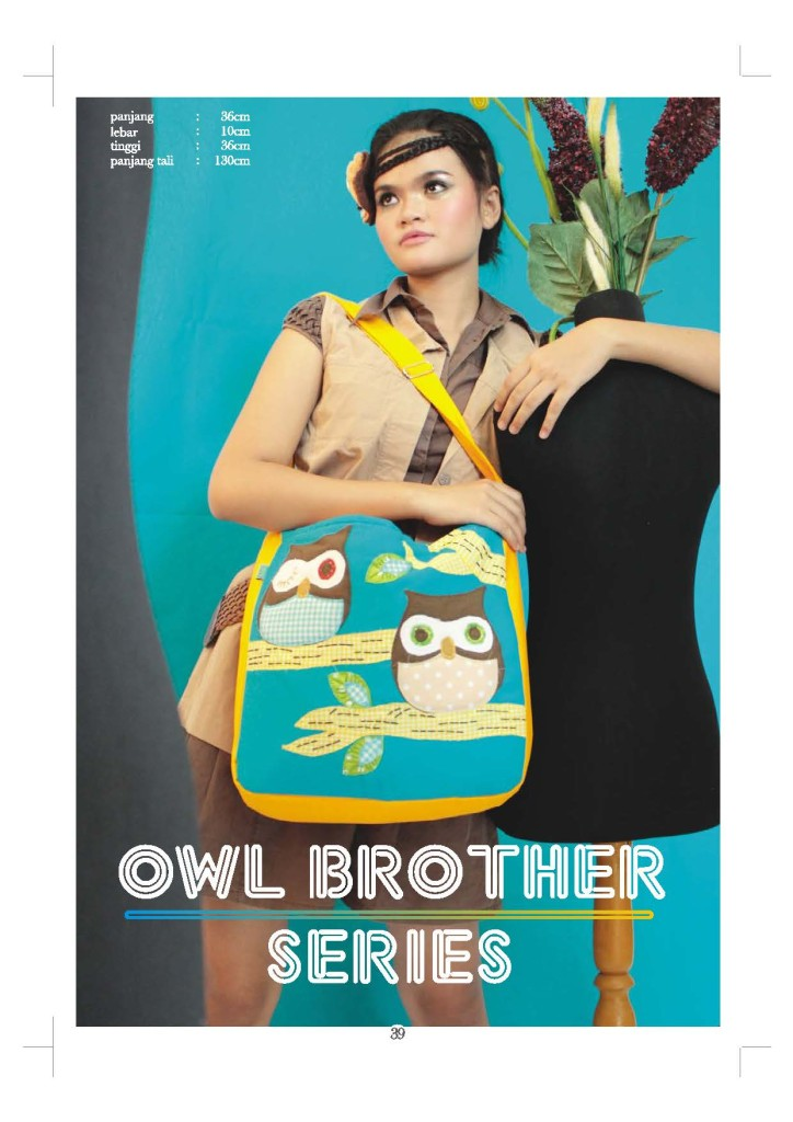 tas maika etnik owl brother series