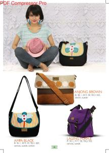 tas maika anjong brown, laleng purple, ampa black