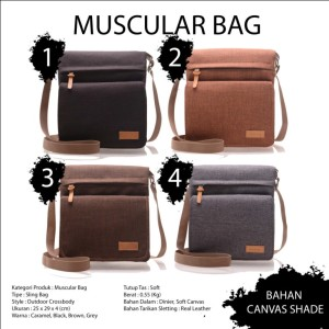 Hoozler Muscular Bag Canvas