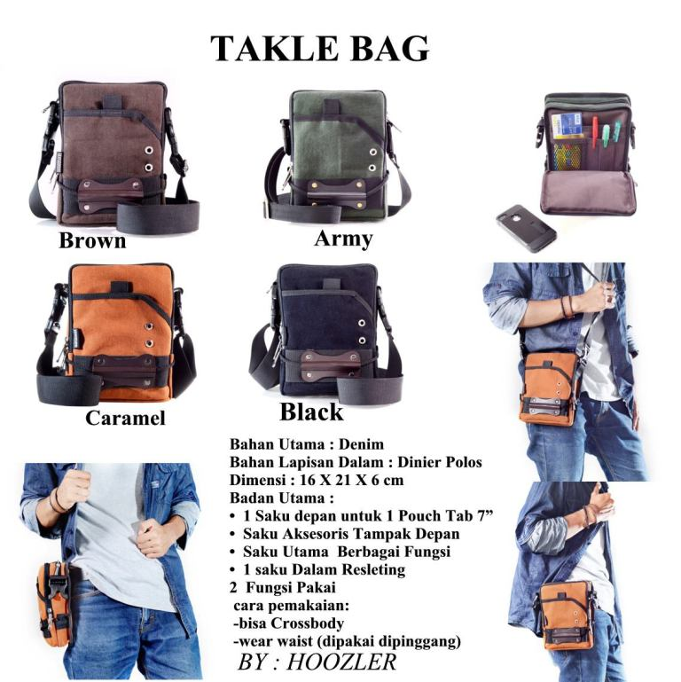spesifikasi hoozler tackle bag
