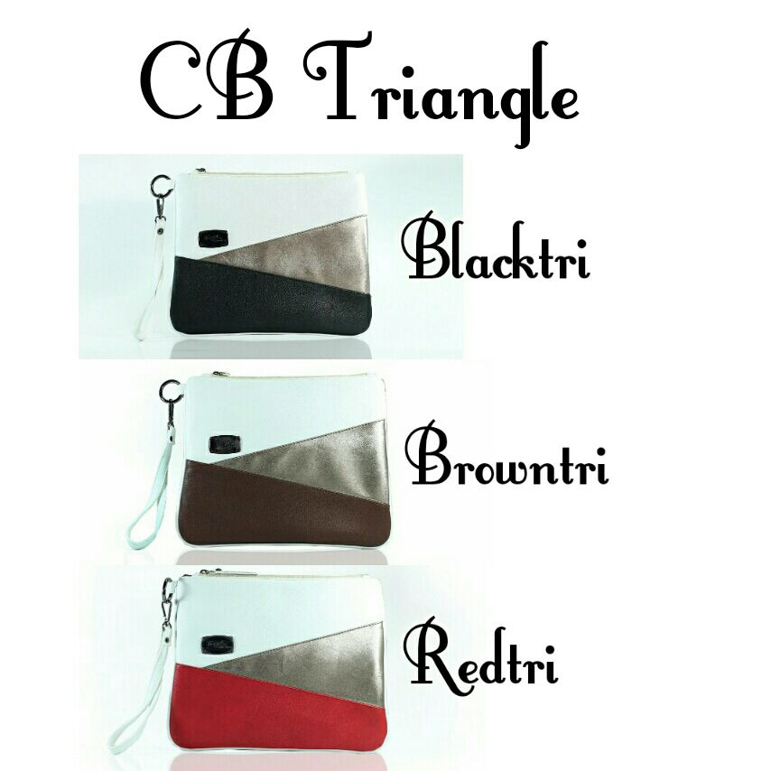 trojika clutch bag triangle